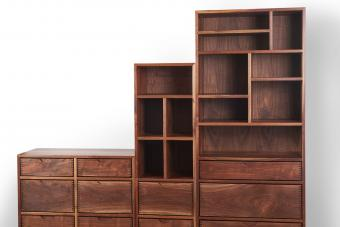Wardrobe in Walnut