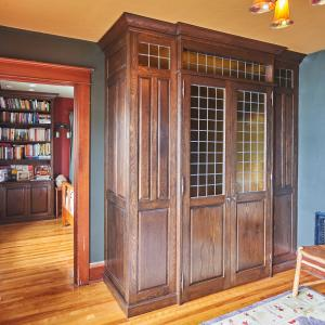 Matched Wardrobe and Corner Bookcase